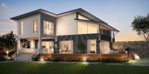 Congham Pymble double storey design - side view