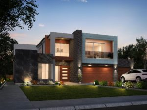 Miller Simone double storey house design side view